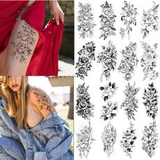tattoo, Flowers, faketattoosticker, Rose