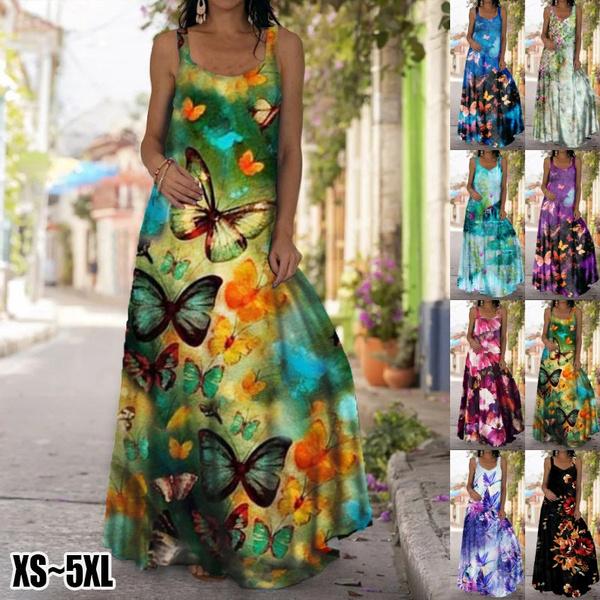 Summer, Vest, Plus Size, long dress