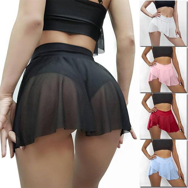 Mini, Shorts, ruffle, ruffled