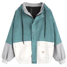 womenbaseballuniformclothe, windbreakercoat, oversizejacket, Jacket
