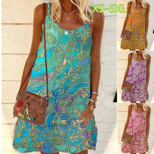 Summer, dressesforwomen, Vintage, Dresses