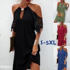 women dress, Plus Size, halter dress, Summer