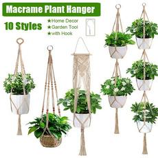 hangingflowerpot, macrame, Home Decor, flowerpotnetbag