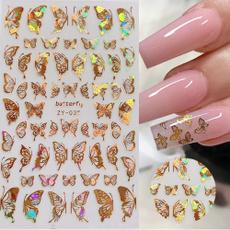butterfly, golden, art, Beauty