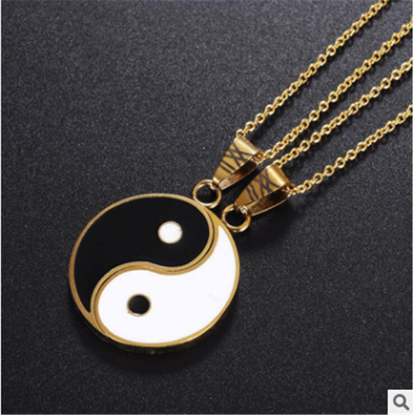 Fashion, yinyangnecklace, Jewelry, gold