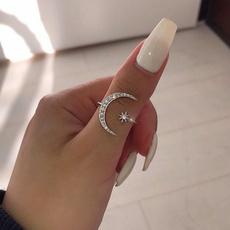Sterling, DIAMOND, Star, wedding ring