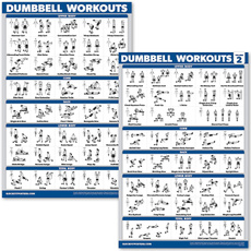 posterset, dumbbellworkoutposter, practiceposter, Posters