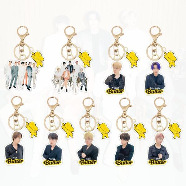 K-Pop, Butter, Key Chain, Jewelry