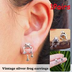 Antique, Goth, Animal, vintage earrings