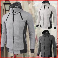 hoodiesformen, Plus Size, Casual Jackets, zipperjacket