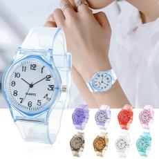 cute, transparentwatch, silicone watch, siliconewatchband