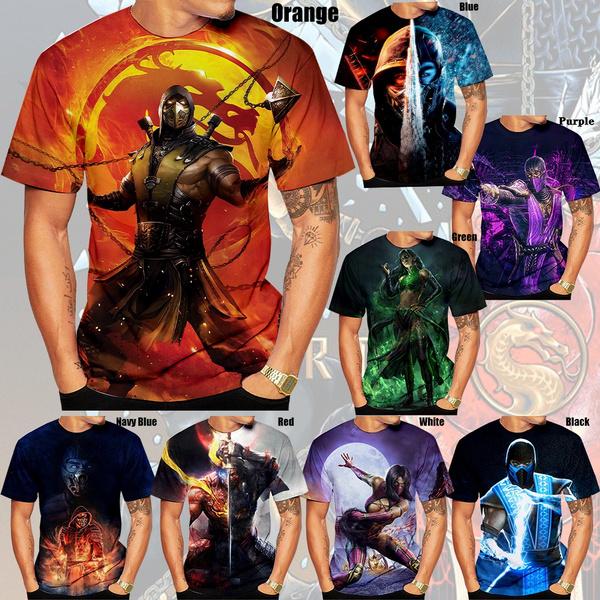 mortalkombat11, Fashion, topsandtshirt, casualmenswear