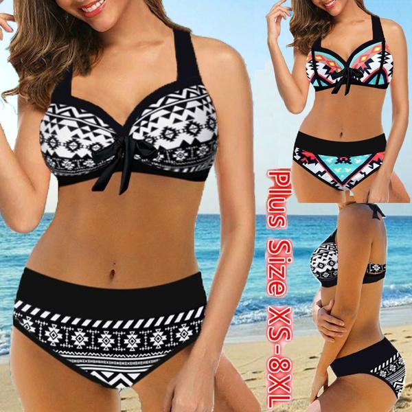 Plus Size, women beachwear, Bikini swimwear, Swimming suit