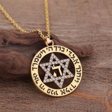 Star, Jewelry, Rhinestone, starofdavidnecklace