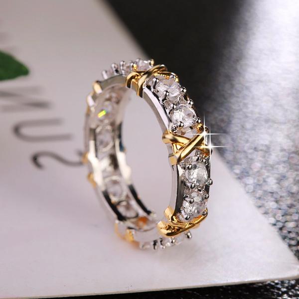 Cubic Zirconia, DIAMOND, wedding ring, 925 silver rings
