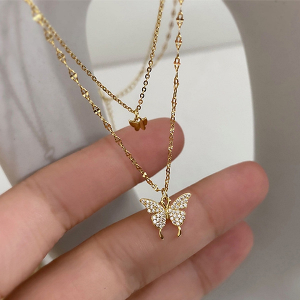 butterfly, Chain Necklace, Gifts, Chain