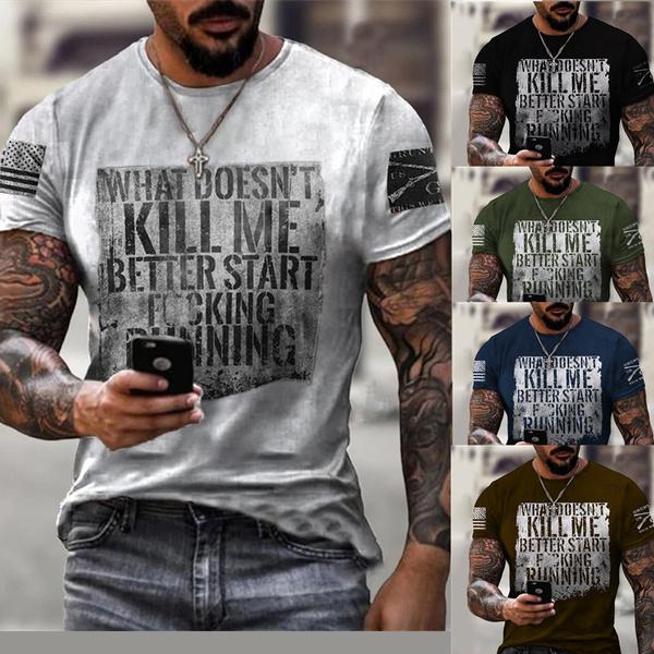 Mens T Shirt, Printed T Shirts, men's clothes, Fitness