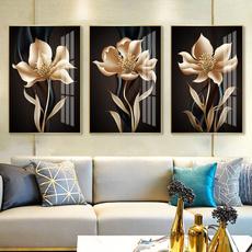 living, Decoración, Flowers, art