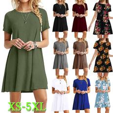 Summer, printeddres, Cotton, Cotton Dress