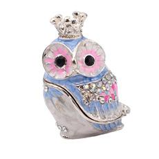 pink, Owl, Joyería de pavo reales, Gifts
