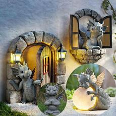 cute, Outdoor, dragonstatue, Gifts