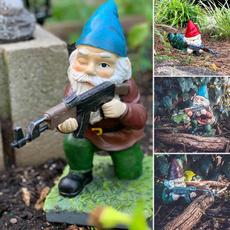 Outdoor, Garden, armygnomestatue, fightinggnomestatue