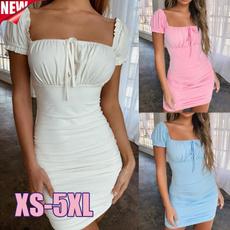 slim dress, collar slim, Shorts, Sleeve
