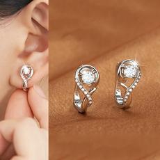 Stud Earring, anniversaryearring, DIAMOND, valentinesdayearring