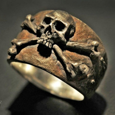 Goth, piratering, Stainless Steel, punk rings