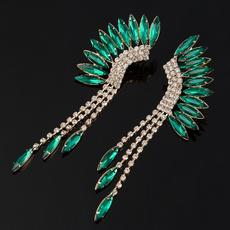 Earring, DIAMOND, Fashion, Crystal