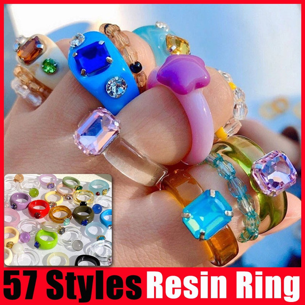 crystal ring, Jewelry, Colorful, cartoonring