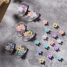 Nails, Flowers, art, Jewelry