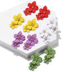 cute, roseearring, Flowers, Stud Earring