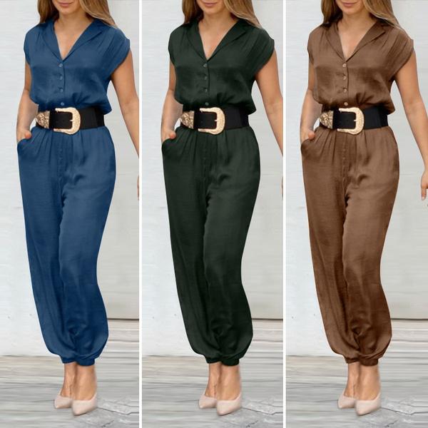 Shorts, causaltrouser, summerjumpsuit, buttonsdownpant