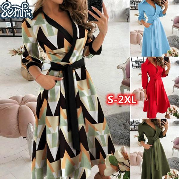 Summer, Plus Size, print dress, long dress