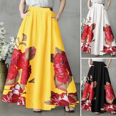 long skirt, Plus Size, Umbrella, Dress