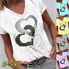 blouse, Summer, Fashion, Cotton T Shirt
