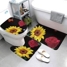 Bathroom, Flowers, bathrug, Sunflowers