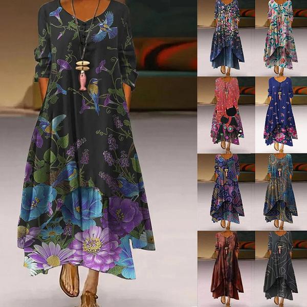 Swing dress, Plus Size, long sleeve dress, Sleeve