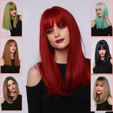 wig, colorwig, Straight Hair, heatresistantwig