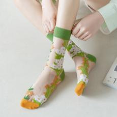 Summer, Cotton Socks, Fashion, tulle