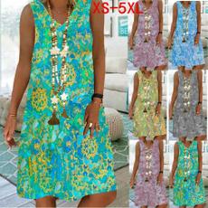 Sleeveless dress, Plus Size, casual dress, Summer