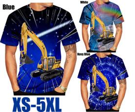 excavatortshirt, Summer, shortsleevestshirt, 3dmentshirt