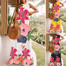 Summer, Vest, Fashion, floralprintdres