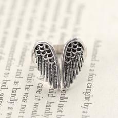 featherbadgepairring, Jewelry, Angel, metalretroring