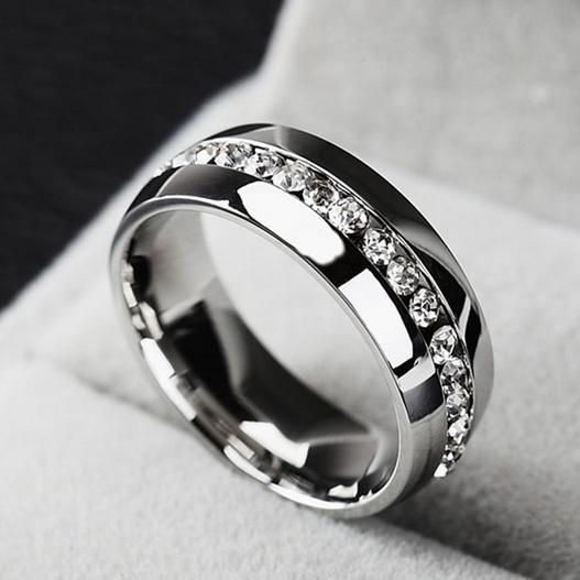 White Gold, Steel, DIAMOND, wedding ring