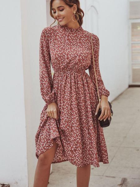 Floral, Women's Fashion, Dress, Elastic