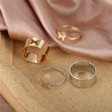 Couple Rings, butterfly, butterflyring, Fashion