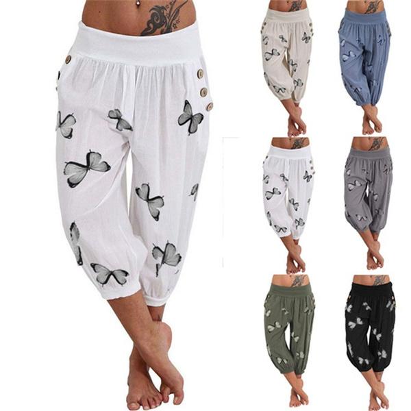 butterfly, caprisforwomen, harem, elastic waist