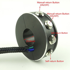 manualreturnlatchingbutton, handlebarswitchbutton, black, handlebarswitchformotorcycle